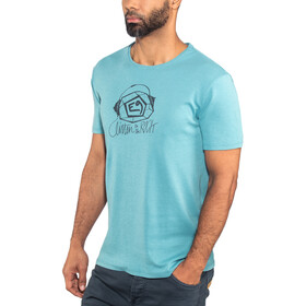 E9 Music t-shirt Heren turquoise